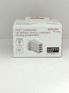 🚚 MERCURY Max plug Universal Travel Charger,  4USB ports