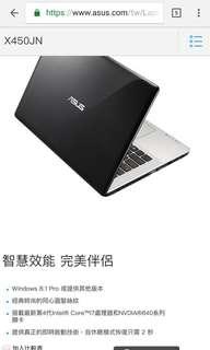 Asus X450JN 筆電