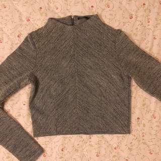 🚚 200元專區—Zara短板微高領長袖上衣