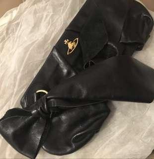 Vivienne Westwood black leather clutch