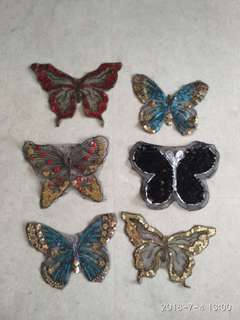 Sew on sequins patch - Butterfly - Large