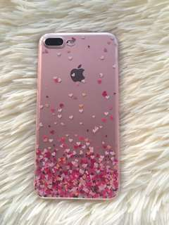 Iphone 7 plus ultra thin jelly heart case