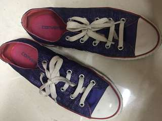 Converse shoes purple blink