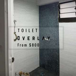 Toilet Tiling Overlay Walls and Floor
