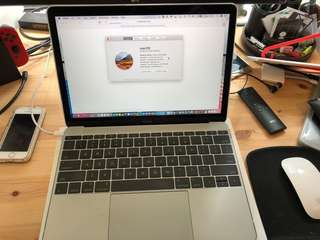 "2016 Apple Macbook 12"" m7 1.3Ghz 8gb RAM 512GB Hard Drive"