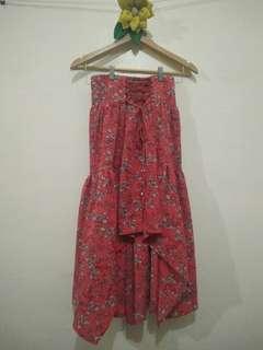 Boho long back skirt