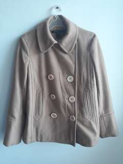 Marc Jacobs Brown/Beige Double-Breasted Coat S