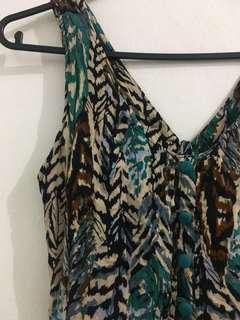 Printed Open Back Dress
