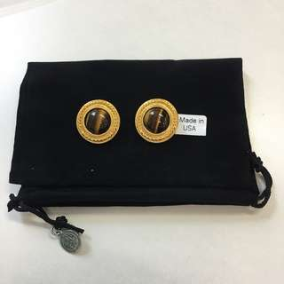 Ben Amun clip on earrings 24K gold plated