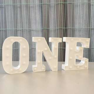 ONE alphabet led