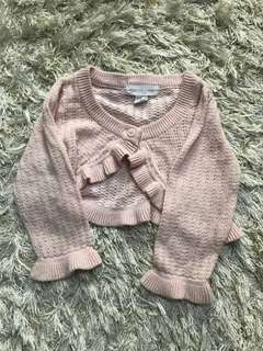 Pumpkin Patch Knitted Cropped Cardigan