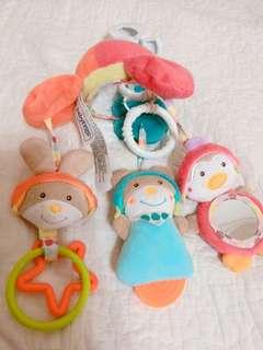 🚚 babyFEHN芬恩~嬰兒推車玩具/音樂鈴/床邊玩具~9成新