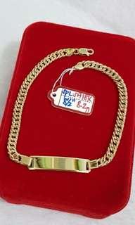 18k saudi gold unisex bracelets