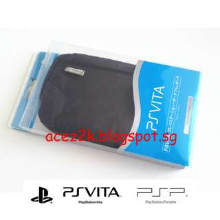 [BNIB] PSV PS Vita / PSP Original Soft Carrying Zip Pouch (Brand New Boxed)