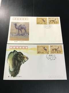 China Stamp - 1993-3 首日封(A/B) FDC 中国邮票