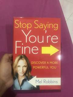 Motivational Book (Stop Saying You're Fine) #July50