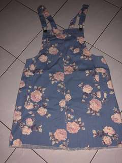 ( Price Reduced ) BN Cotton On Denim Pinafore Dress