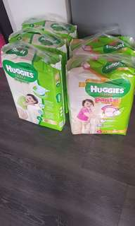 Huggies diapers to let go