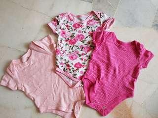 3pcs Baby Rompers (3-6m)