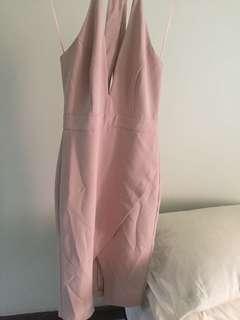 MISS SELFRIDGE DUSTY PINK DRESS