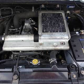 Mitsubishi Pajero V46W, intercooler turbo 4M40 diesel engine,yom 2000, Automatic ,2.8.