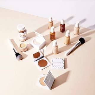 Colourpop no filter foundation, loose setting powder, sheer pressed powder, concealer