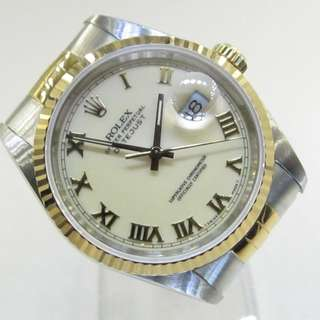 "Pre Owned Rolex Datejust ""Cream Dial""16233"