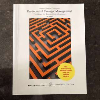 Essentials of Strategic Management (Fifth Edition)
