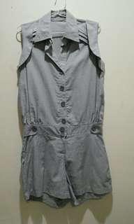 Short Grey Jumpsuit