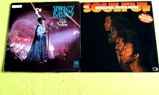 SHIRLEY BASSEY . live at talk of the town ● SOULFUL DYNAMICS . soulful (buy 1 get 1 free )  vinyl record