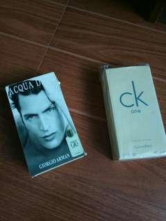Perfume CK One and Giordano