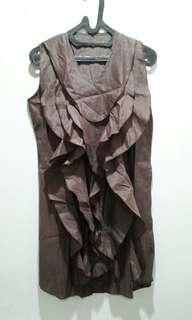 Ruffle Brown Dress
