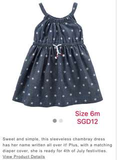 Carters baby girl dress 6 month