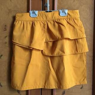 Orange Ruffle Skirt