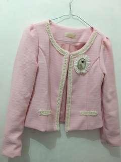 blazer pink (baju hangat)
