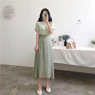 T shirt + Half Dress