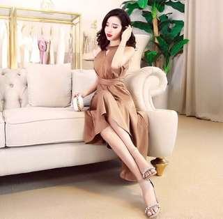 Elegant Beige Dress