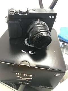 FUJIFILM XE2 black noir , lensa Fujinon F2