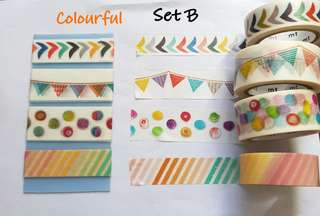 Colourful Washi samples Set B
