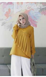 Dila blouse mustard