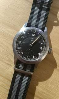 Record MOD dial 50s british military watch not seiko rolex omega iwc