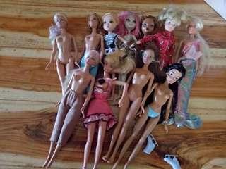 12 pcs of barbie frim u.s
