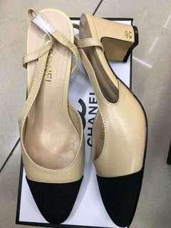 Chanel heels sling back