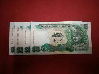 Old Malaysia 7th series currency