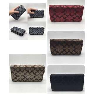 coach wallet 2 zipper