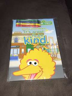 Sesame Street activity book
