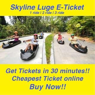 Skyline Luge & Skyride Sentosa E-Tickets