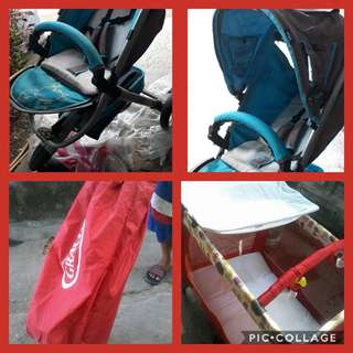 SALE Gracco Crib/playpen & Mickey Mouse Stroller 3wheel