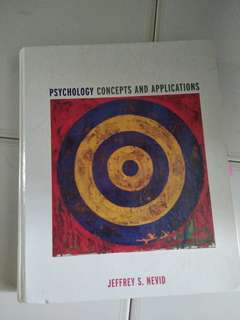 Psychology textbook - Psychology concepts and applications, Nevid