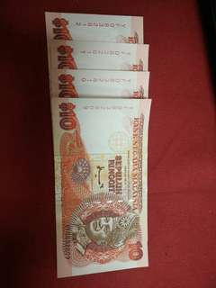 RM10.00 old Malaysia Currency